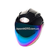Шлем открытый HF-210 (size: S, черный, тонированное стекло) Mototech