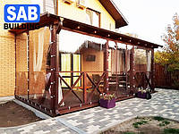 Прозрачные ПВХ шторы, мягкие окна, гибкие окна Япония Achilles высшее качество