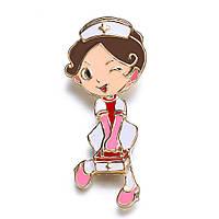 Брошка «Медсестра з медичним валізкою 2».
