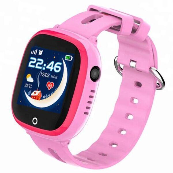 Водонепроницаемые детские GPS смарт-часы с камерой Smart Baby Watch Aqua DF31C Розовые