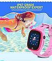 Водонепроницаемые детские GPS смарт-часы с камерой Smart Baby Watch Aqua DF31C Розовые, фото 7