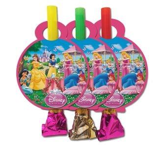 Язички гудки святкові Принцеси Діснея 6 штук