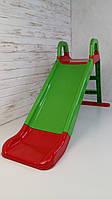 Горка для катания детей, 140 см, Горка пластиковая детская для дома и улицы, горка для катания детей 0140/04