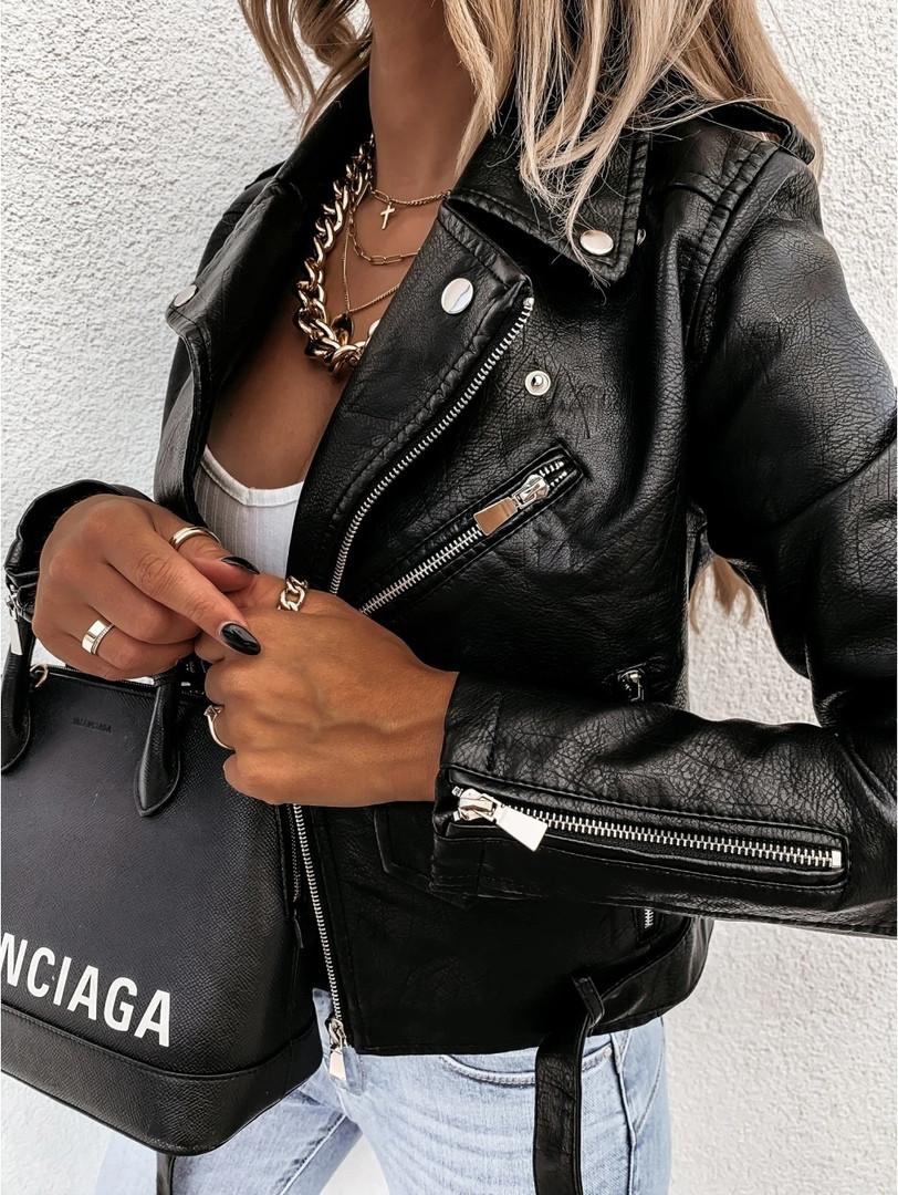 Женская стильная куртка косуха из эко-кожи купить в Одессе, Украине  ✓Интернет магазин женской одежды ✈Доставка по всей Украине ✓Акции ✓Скидки