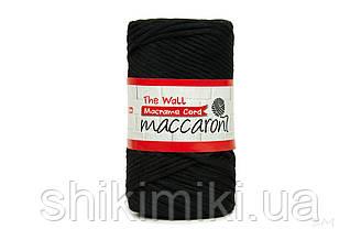 Еко шнур Macrame Cord 3 mm, колір Чорний
