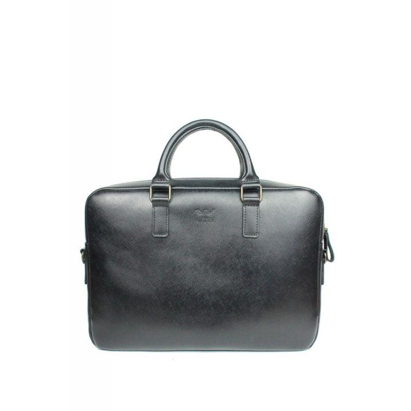 Зручна сумка для ноутбука шкіряна Стильна шкіряна сумка для ноутбука Шкіряна ділова сумка чорна унісекс