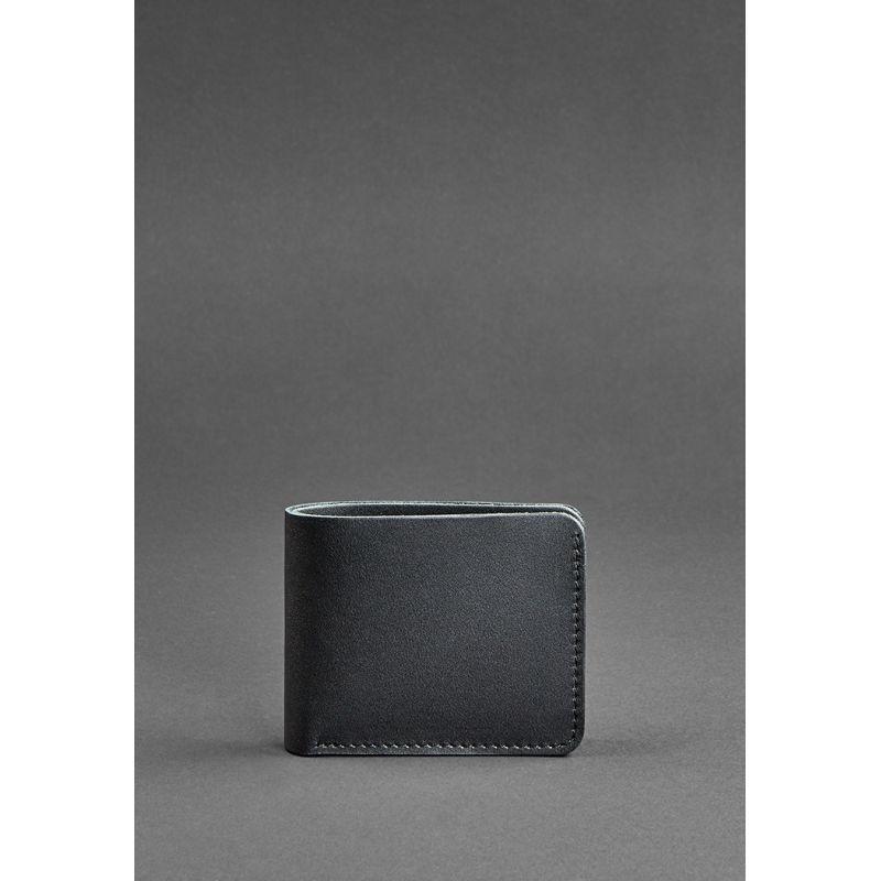 Чоловіче шкіряне портмоне 4.1 (4 кишені) чорне