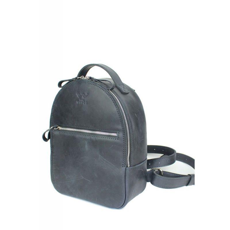 Шкіряний рюкзак Groove S синій вінтажний