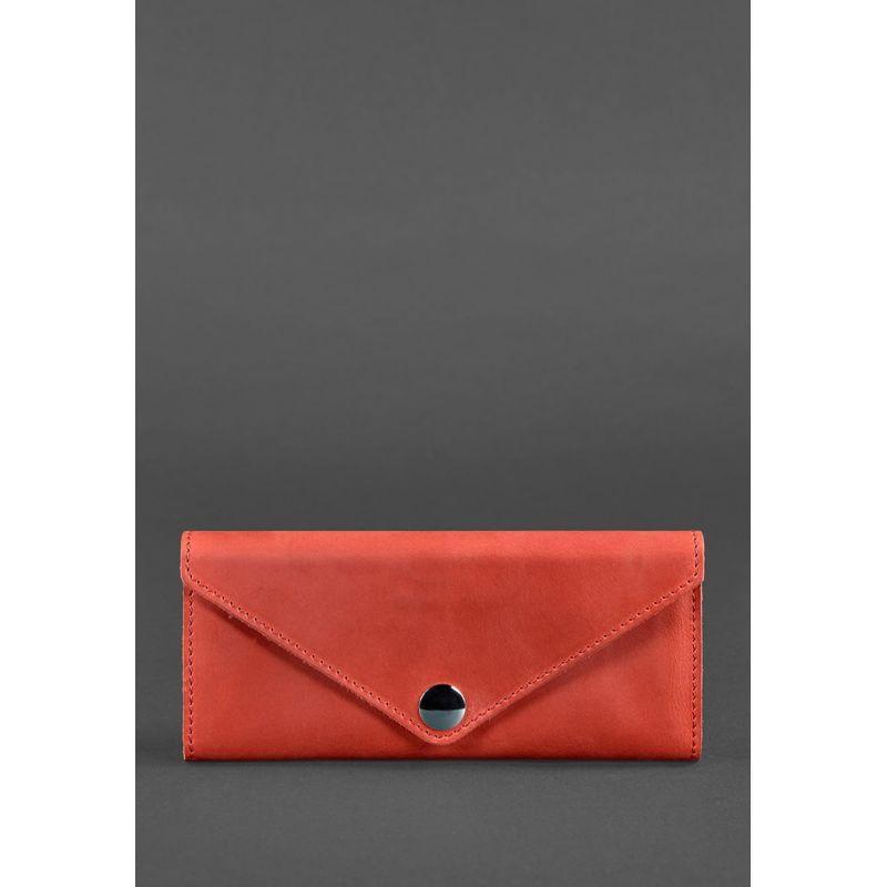 Жіночий шкіряний гаманець Керрі 1.0 кораловий