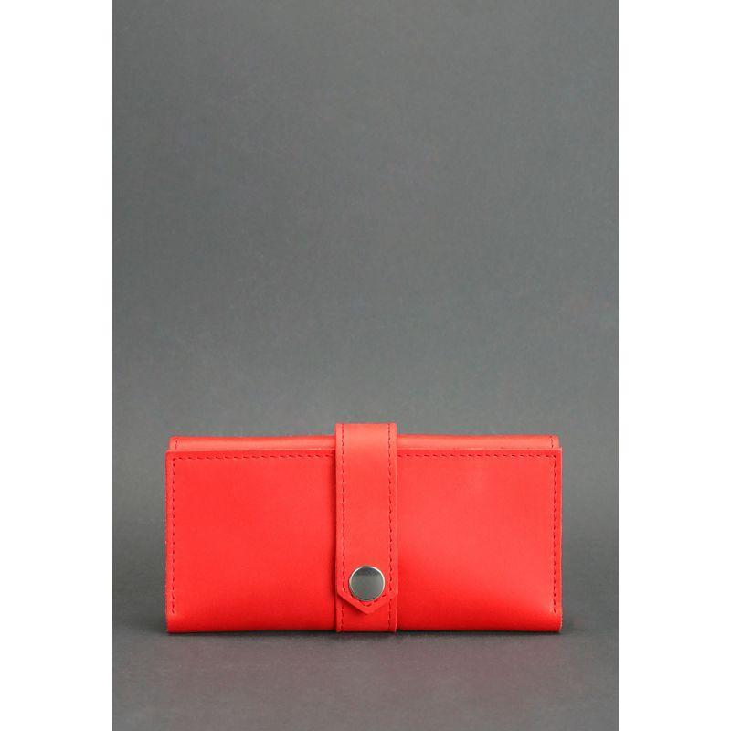 Кожаное женское портмоне 3.0 коралловое