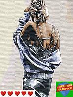 Картина по номерам Соблазнительная незнакомка +ЛАК 40*50см Барви Раскраска по цифрам Девушка со спины