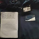 Мужская кофта весенняя с капюшоном в стиле Nike Турция cиняя, фото 9