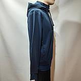 Мужская кофта весенняя с капюшоном в стиле Nike Турция cиняя, фото 6