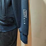 Мужская кофта весенняя с капюшоном в стиле Nike Турция cиняя, фото 4