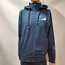 Чоловіча кофта весняна з капішоном в стилі Nike Туреччина синя