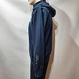 Мужская кофта весенняя с капюшоном в стиле Nike Турция cиняя, фото 8