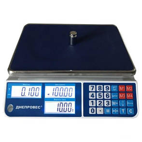 Весы торговые Днепровес ВТД-СЛ1 (30 кг), фото 2