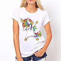 Женская футболка с яркими принтами, женская футболка
