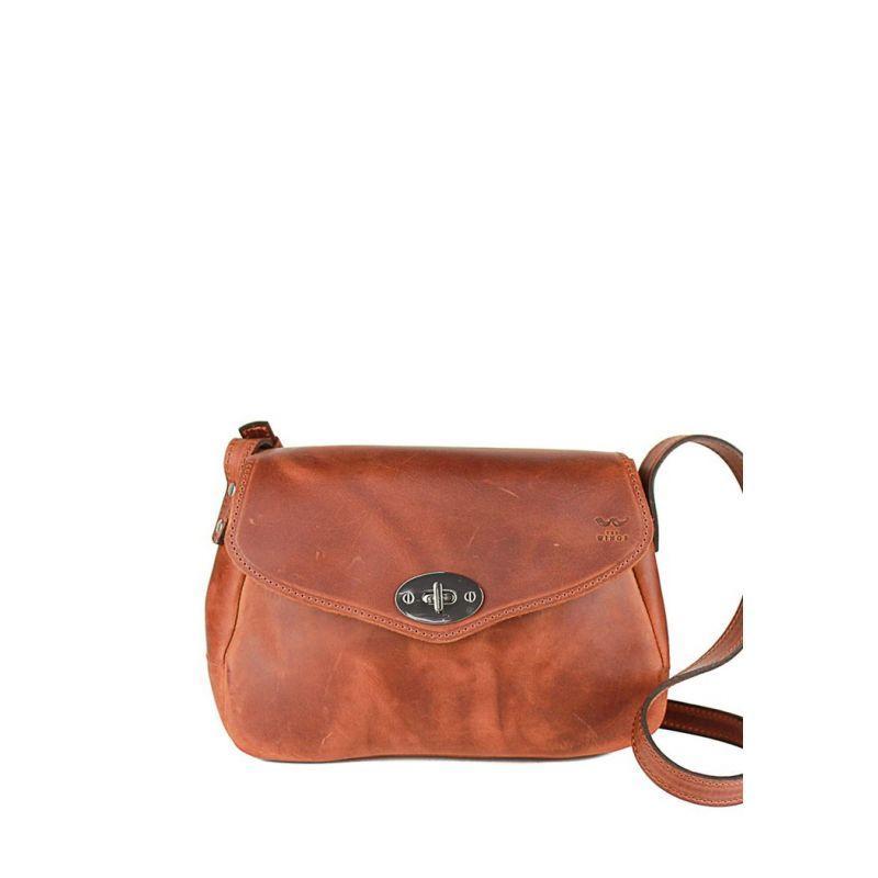 Женская кожаная сумка Трапеция светло-коричневая винтажная Оригинальная женская сумка через плечо кожаная