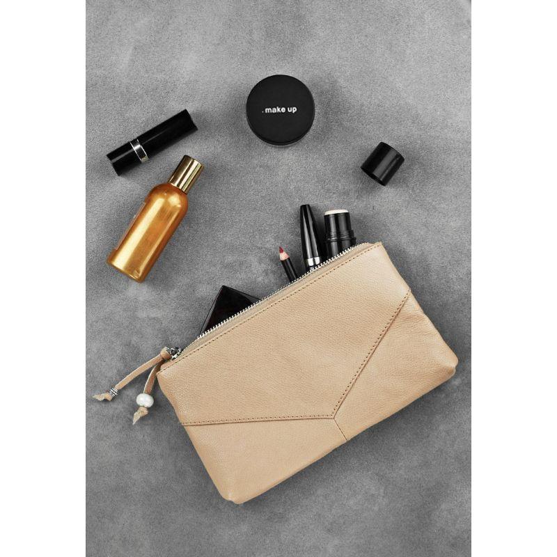 Жіноча шкіряна сумочка світло-бежева