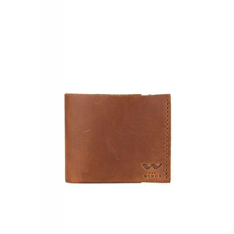 Шкіряний гаманець Mini світло-коричневий вінтаж