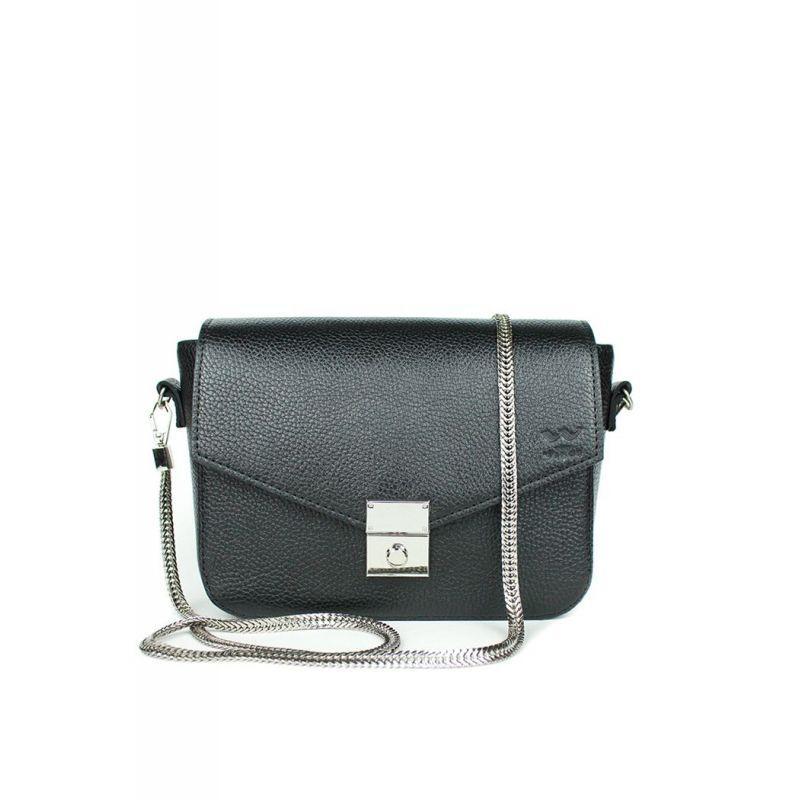 Элегантная женская сумочка для носки через плечо Женская кожаная сумочка люкс класса черная