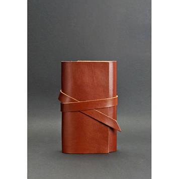 Шкіряний блокнот (Софт-бук) 1.0 світло-коричневий презентабельний блокнот Подарунок для ділової людини