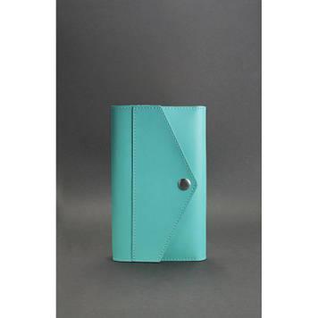 Жіночий шкіряний блокнот бірюзовий Шкіряний бізнес блокнот для жінок-Жіночий блокнот софт-бук