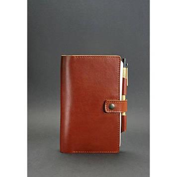 Шкіряний блокнот (Софт-бук) світло-коричневий Якісний блокнот з натуральної шкіри для чоловіків та жінок