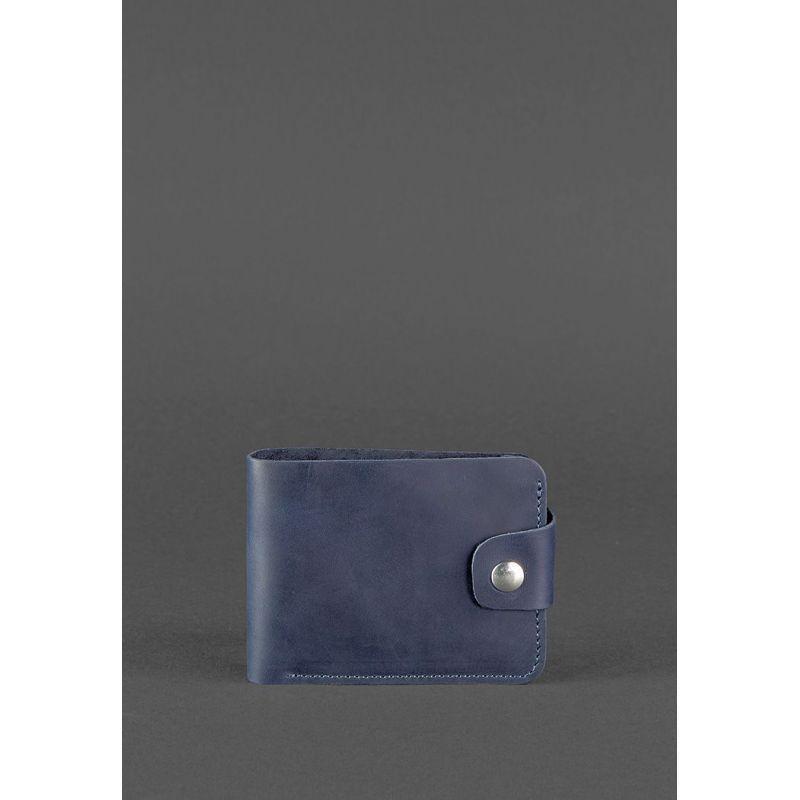 Кожаное портмоне 4.3 синее