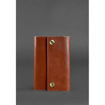 Шкіряний блокнот (Софт-бук) світло-коричневий блокнот А5 Універсальний ділової шкіряний блокнот