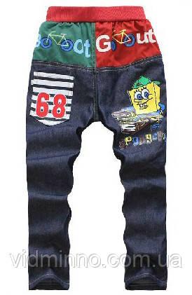 Детские летние джинсы Губка Боб для мальчика