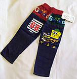 Детские летние джинсы Губка Боб для мальчика, фото 3