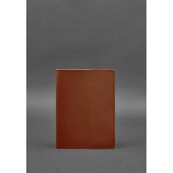 Шкіряна обкладинка для блокнота світло-коричнева Обкладинка з натуральної шкіри для блокнота софт-бука