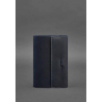 Шкіряний блокнот софт-бук темно-синій Блокнот преміум класу ручної роботи Блокнот з шкіряною обкладинкою