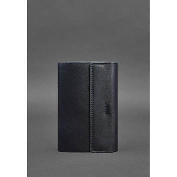 Шкіряний блокнот софт-бук темно-синій Блокнот для чоловіків і жінок діловий Блокнот софт-бук ручної роботи