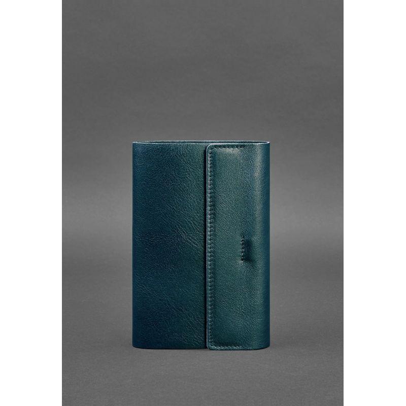 Кожаный блокнот софт-бук зеленый Блокнот премиум класса из натуральной кожи Блокнот ручной работы