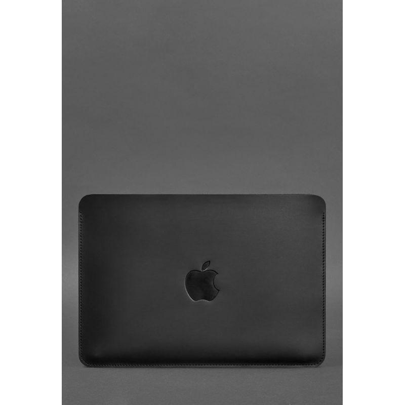 Горизонтальный кожаный чехол для MacBook Air/Pro 13'' Черный
