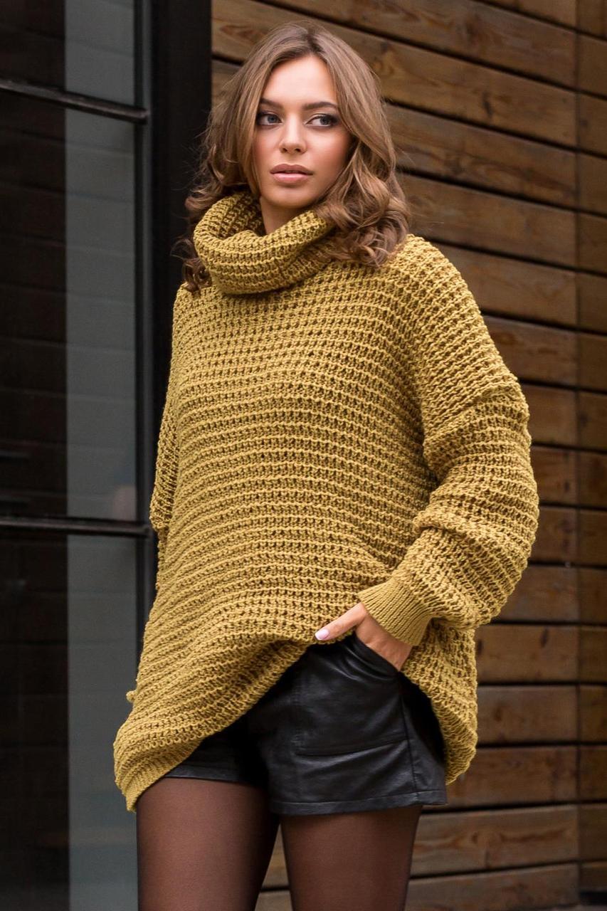 Теплий фісташковий светр оверсайз Фрістайл