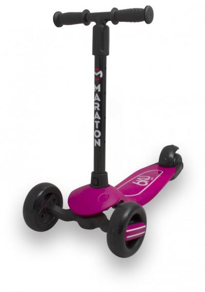 Самокат Maraton Baby Star (Розовый) со складным рулем и ножным задним тормозом