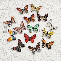 Пуговицы деревянные Бабочки