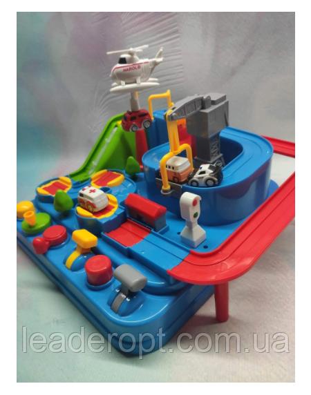 ОПТ Развивающая головоломка для детей механический трек Rescue city JIA YU TOY игрушка с рычагами и кнопками