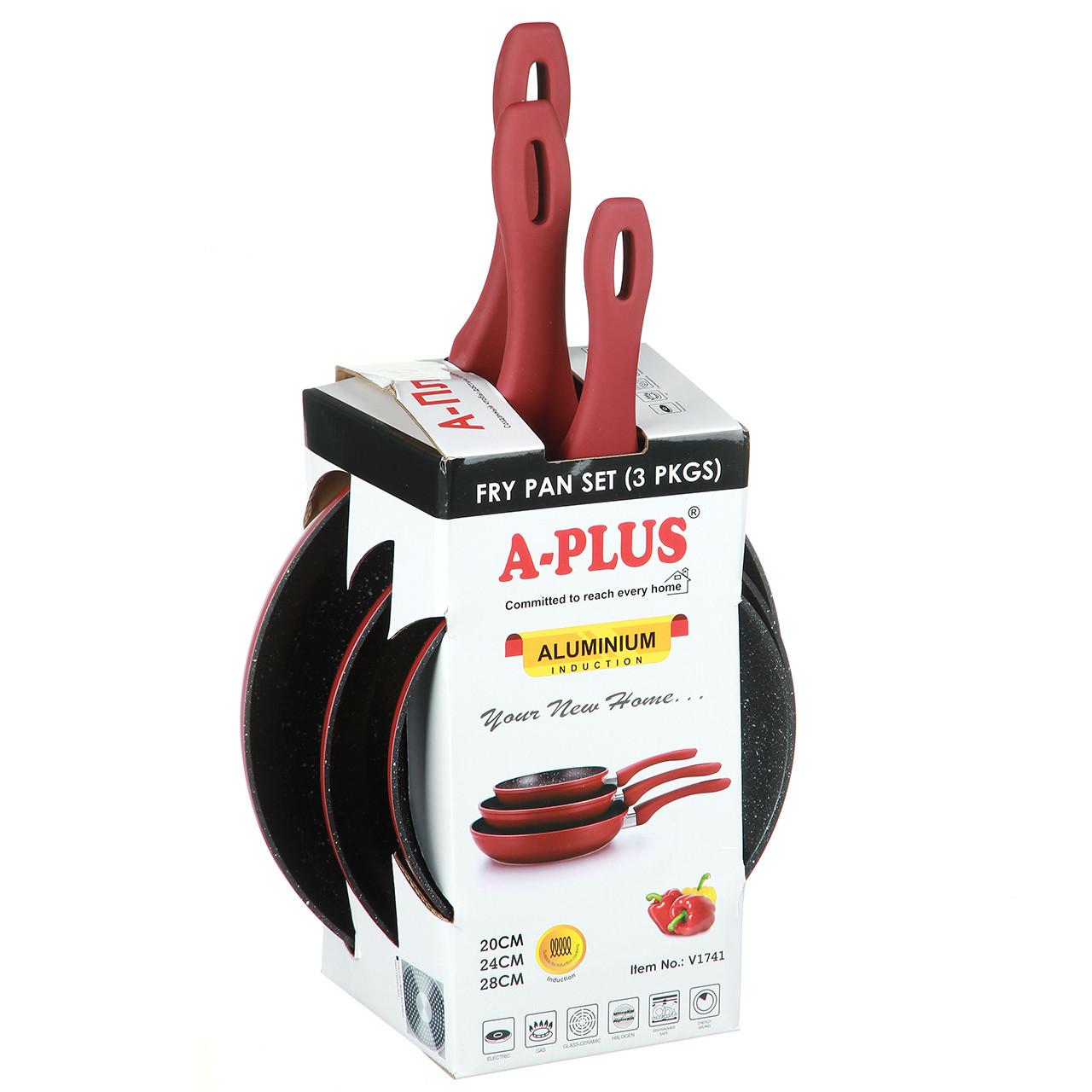 Набор сковородок A-PLUS 3 шт (FP-1741) С мраморным покрытием