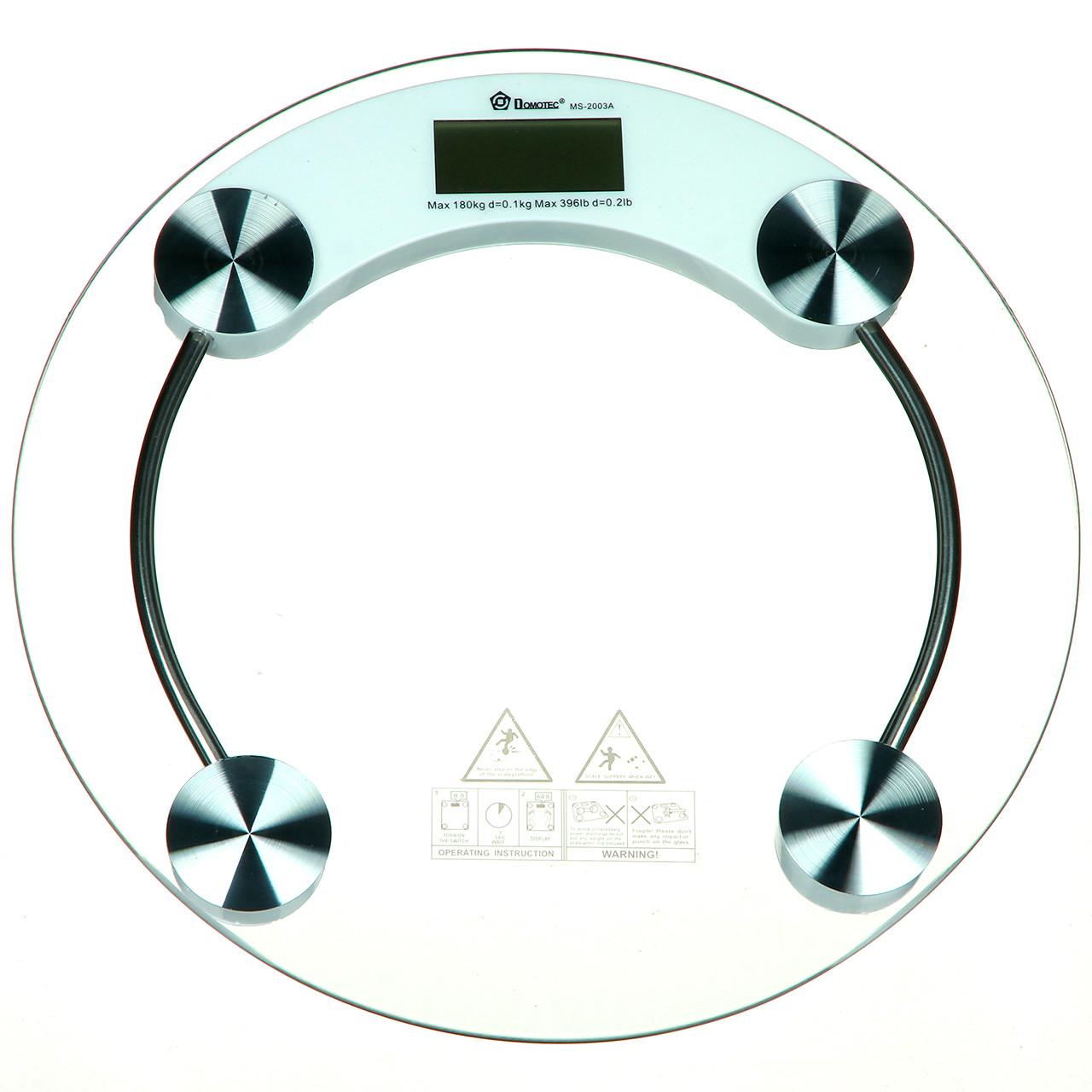 Ваги підлогові Domotec 180 кг (2003A) + датчик температури