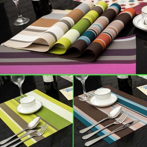 Декоративні серветки на стіл STENSON Смужки 6 шт (17169)
