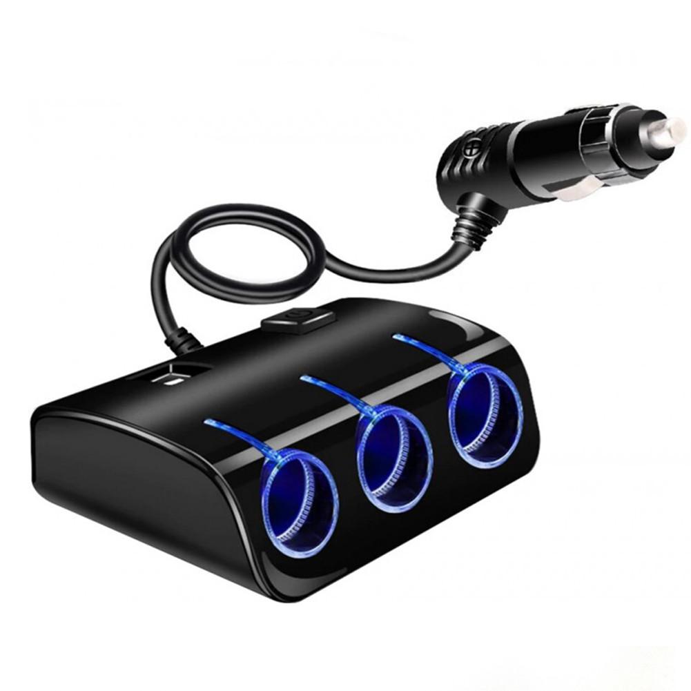 Автомобильный разветвитель тройник UKC 3+2 USB 1506A /1505A (5036)