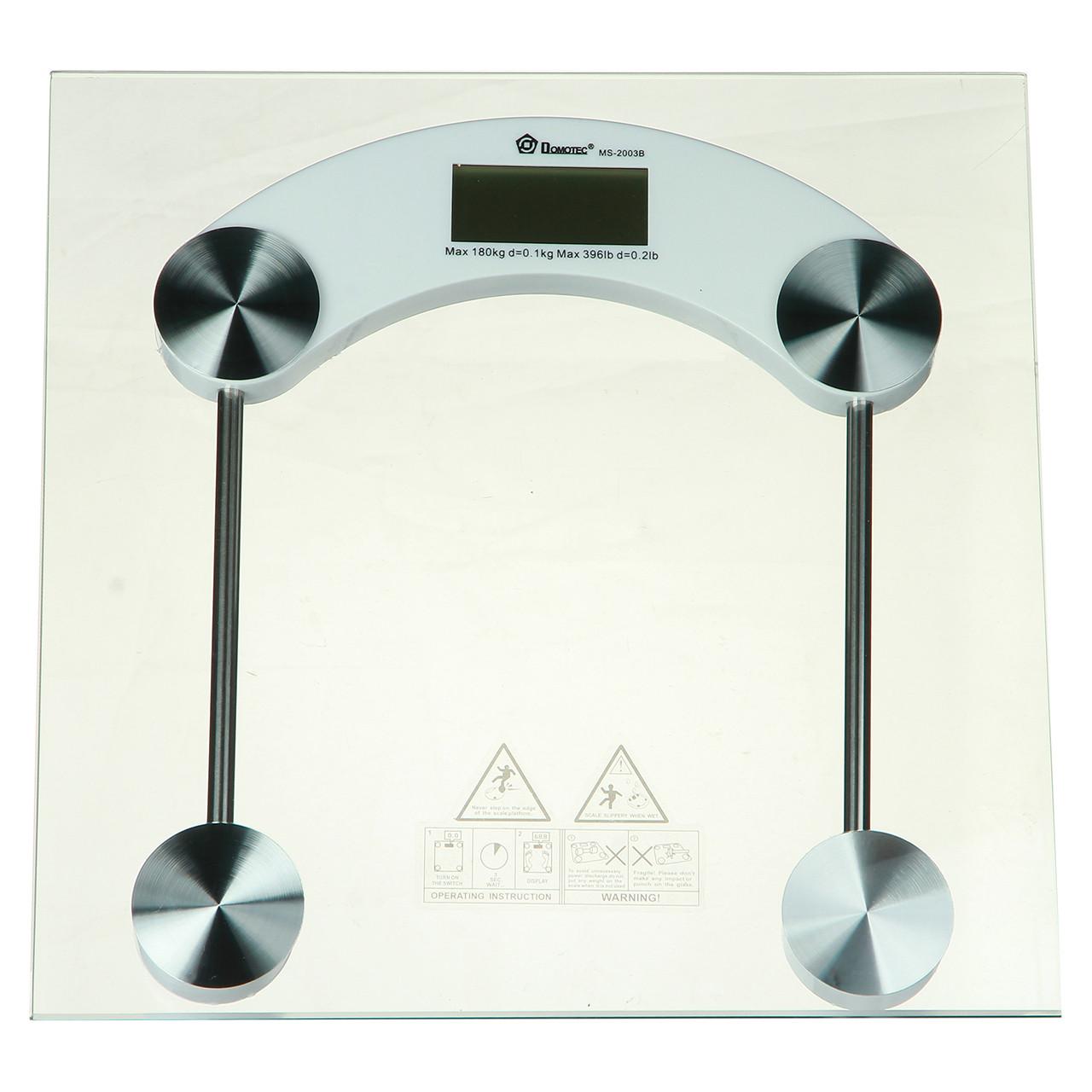 Весы напольные Domotec 180 кг (2003B) + датчик температуры