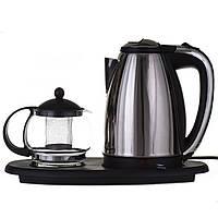 Електрочайник A-PLUS 1.8 л + чайник заварник 500 мл (ОС-1342), фото 1