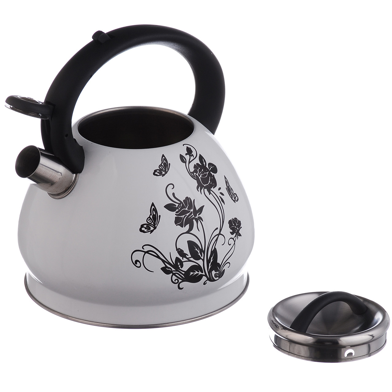 Чайник A-PLUS зі свистком 3.0 л Термо-малюнок (1388) Квітка