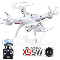 Квадрокоптер дрон з камерою і wi-fi X 5 SW, фото 1